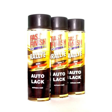 fast finish car rallye 1k autolack schwarz matt 3 x 500 ml. Black Bedroom Furniture Sets. Home Design Ideas
