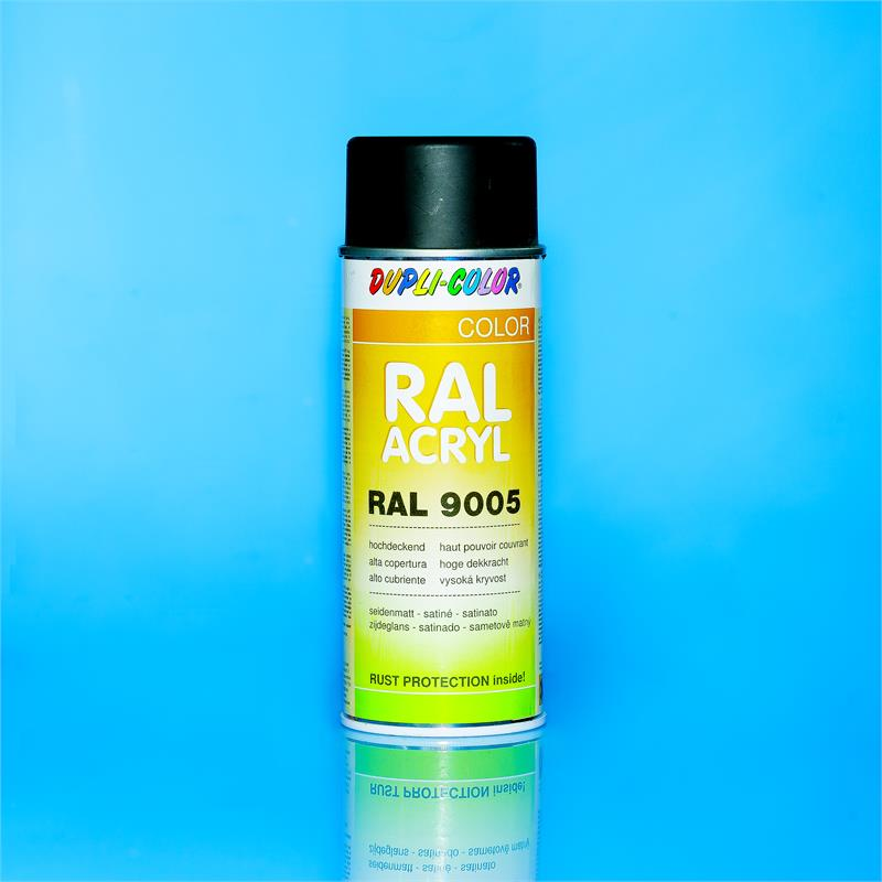Pic_A:DUPLI-COLOR ACRYL SPRAY RAL 9005 tiefSchwarz seidenmatt 400 ml *472558 472558