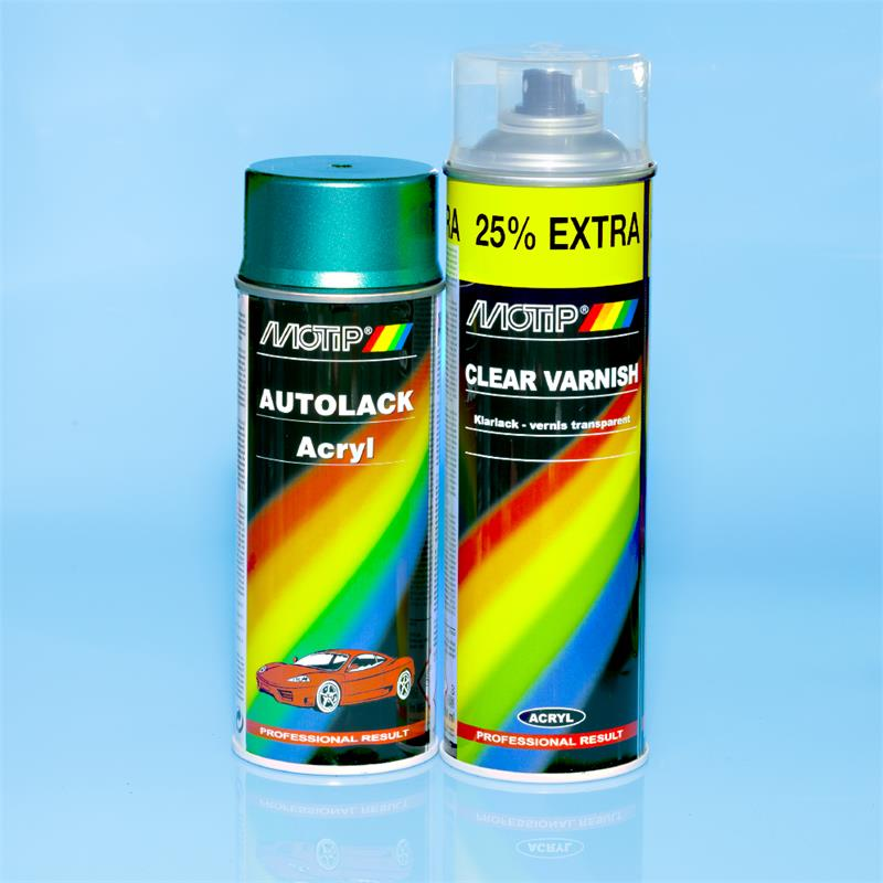 Pic_A:MOTIP SPRAY Set Met DAIHATSU 6M5 GREY. GREEN GRAPHITE P. 1992-2000 *52555/1 52555/1
