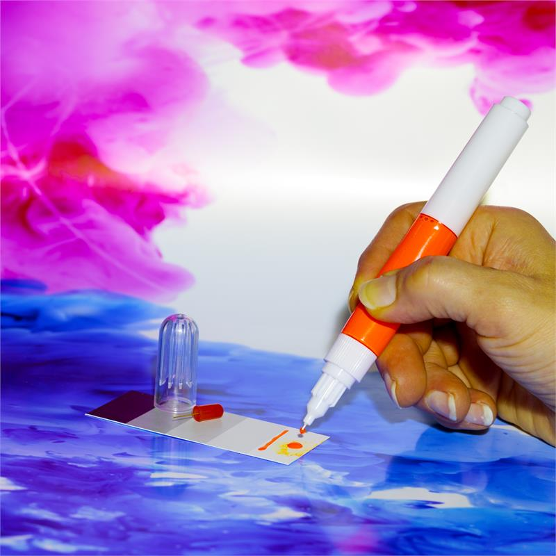 Pic_E:QLS 2 in 1 Lackstift 10 ml  Glanz RAL 4011 Perlviolett M. 1K Acryl *QLSN4011S QLSN4011G