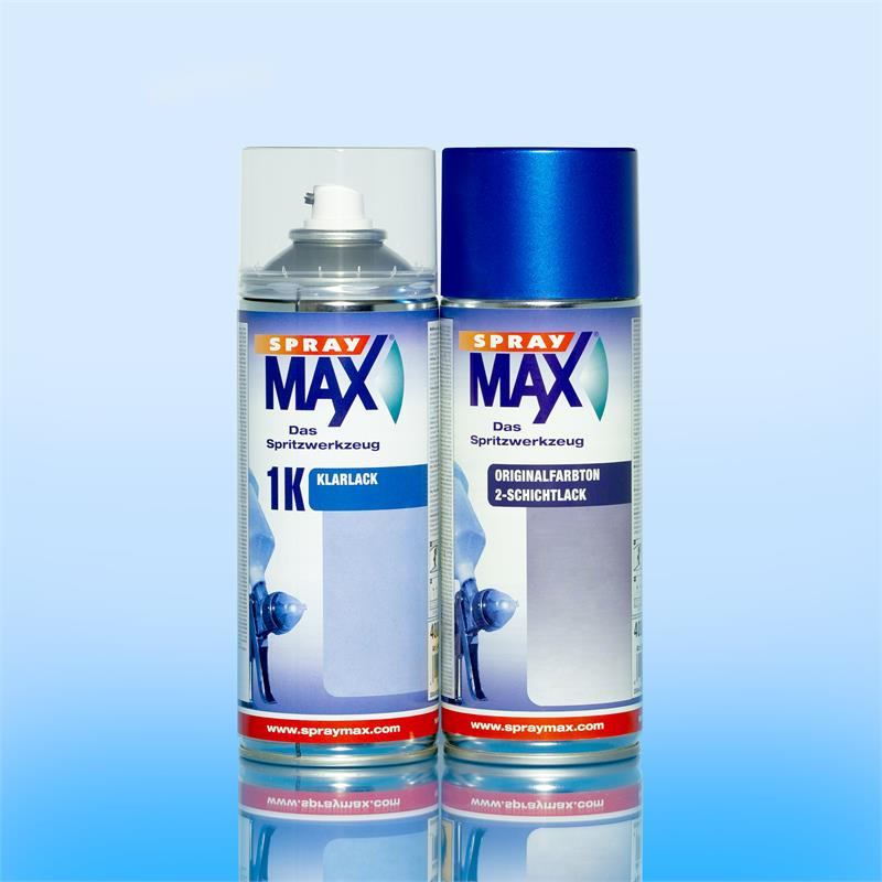 Pic_A:SprayMax Set 800 ml Original FORD EUROPE D8 PANTHER BLACK P. MET.1996-2012 *54584/5 FLQ4850