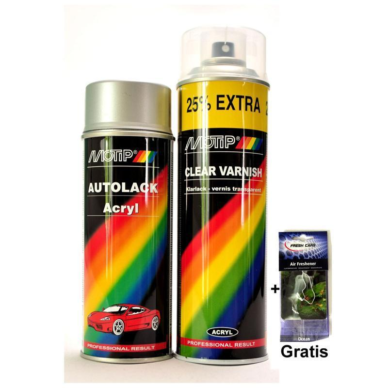 Pic_A:MOTIP SPRAY Set Met FORD EUROPE 61 CHRYSTAL GREEN MET. 1980-1983 *52630/5 52630/5